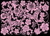 Pozadí růžové květy — Stock vektor