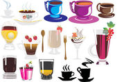 Coffee and dessert collection — Stock Vector