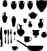 Amphora and other wares — Stock Vector