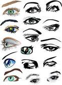 Coleção de olhos de mulher — Vetorial Stock