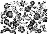 Traditional pattern with flowers — Stock Vector