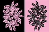 Dois padrões de pretos e rosa — Vetorial Stock