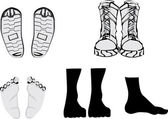 Foots e sapatos — Vetorial Stock