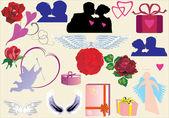 Elementi di amore per il design — Vettoriale Stock