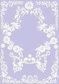 Flower white frame on lilac — Stock Vector