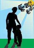Anne aşk — Stok Vektör