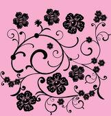 Ornamento curle preto pink — Vetorial Stock