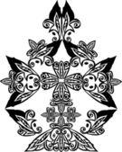 Black abstract cross — Stock Vector