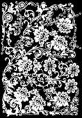 Zvlněné provedení s bílými květy — Stock vektor