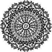 Flower black round design — Stock Vector