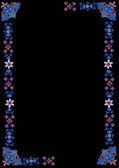 Simples moldura azul no preto — Vetorial Stock