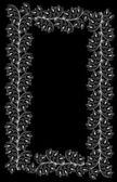 Frame white flower sketch — Stock Vector