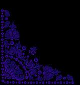 Triangular blue decoration — Stock Vector