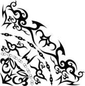 Abstract quadrant ornament in black — Stock Vector