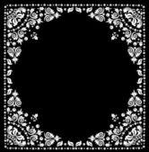 White painted frame on black — Stock Vector