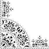 Triangular black ornament — Stock Vector