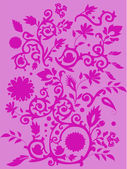 Traditional pink floral background — Stock Vector