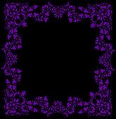 Violet on black frame — Stock Vector