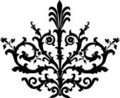 Symmetric black curls — Stock Vector