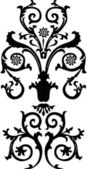 Czarne loki symetryczne — Wektor stockowy