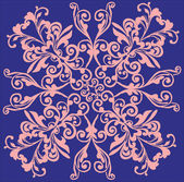 Pink decoration on lilac — Stock Vector