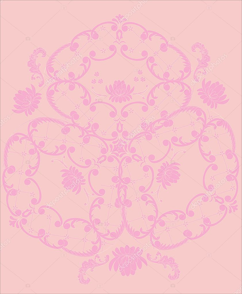 light pink floral background - photo #28