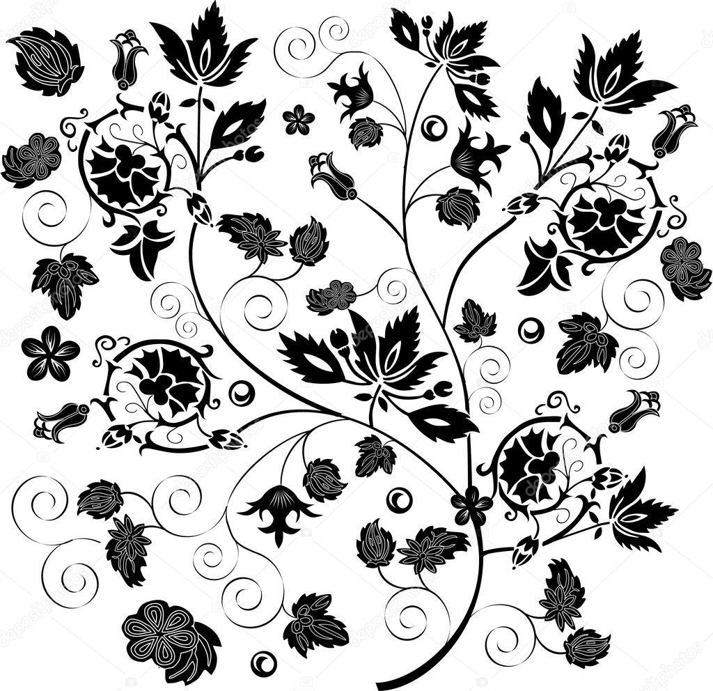 rama de flores ornamental vector de stock dr pas 6261404