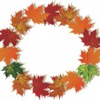 Royalty-Free Stock Vector Image: Fall foliage round frame
