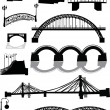 Eleven bridges — Stock Vector