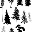 Royalty-Free Stock Vector Image: Eleven trees set