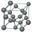 Diamond crystal structure illustration — 图库矢量图片