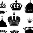 Collection of ten crowns — Stock Vector