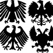 Royalty-Free Stock Vector Image: Heraldic eagles collection