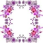 Pink rose frame — Stock Vector