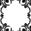 Black pattern of floral frame — Stockvektor