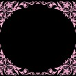 Square pink flower frame — Stock Vector #6328075