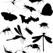 Set of fifteen insects — Stock Vector #6328212