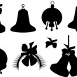 Bell silhouettes collection — Stock Vector