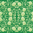 Stock Vector: Green flower symmetrical background