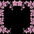 Open pink flower frame - Vettoriali Stock 
