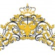 Ornament with crown and eagle - Imagen vectorial