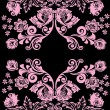 Light pink symmetrical pattern - Stock Vector