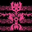 Bright pink symmetric pattern - Stock Vector