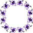 Frame with lilac flowers on white — Stock Vector