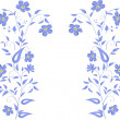 Simple blue flowers design — Stock Vector #6328712