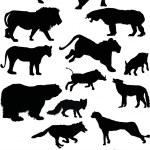 ������, ������: Predator silhouettes set