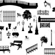 Large set of park elements — Stock Vector #6329035