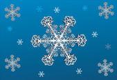 śnieżynka białe i niebieskie tło — Wektor stockowy