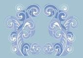 蓝色和白色的卷曲的背景 — 图库矢量图片
