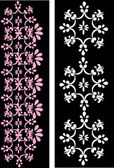 Pink and white bands on black background — Stockvektor